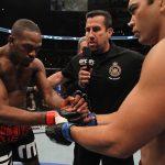 Jones e Machida se enfrentaram em 2011, com vitória do norte-americano. Foto: Nick Laham/Zuffa LLC