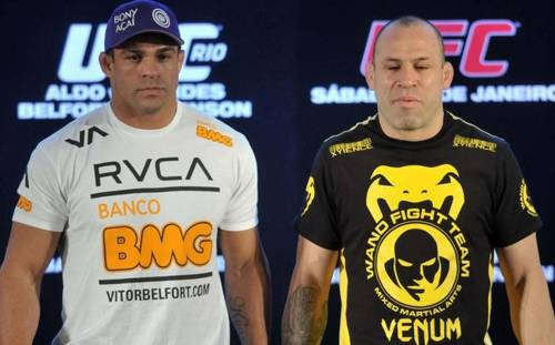 Belfort e Wanderlei Ingressos para o UFC 147 começam a ser vendidos na quinta