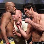 Anderson (esq.) e Sonnen (dir.) protagonizaram grande rivalidade nos últimos anos. Foto: Divulgação/UFC