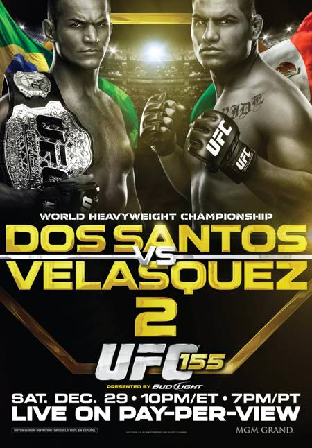 Poster Oficial UFC 155 Com Velasquez vs. Cigano, UFC 155 divulga pôster promocional
