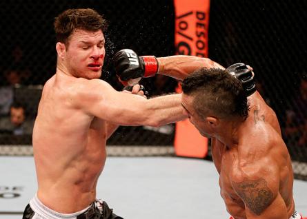 Bisping Belfort 445x318 Com Vitor Belfort na luta principal, UFC confirma evento em Jaraguá do Sul