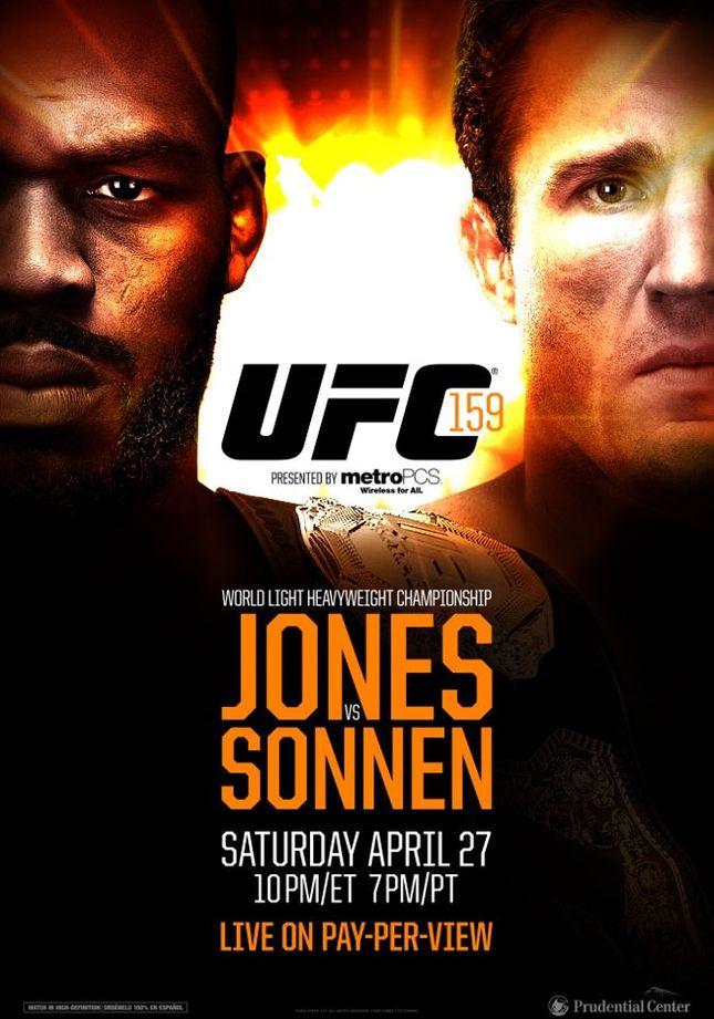 UFC Sonnen Jones Foto ReproducaoFacebook LANIMA20130115 0112 49 UFC 159 ganha cartaz oficial; venda de ingressos começa na próxima semana