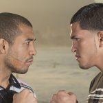 Aldo e Pettis em foto promocional do duelo que aconteceria no UFC Rio 4. Foto: Divulgação/ UFC Brasil