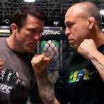 Wand (dir.) enfrenta Sonnen (esq) em junho. (Foto: UFC)