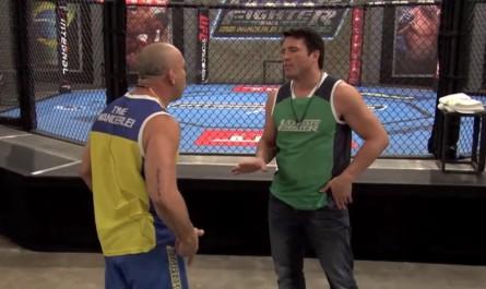 Momento da briga entre Wand e Sonnen no TUF Brasil 3. Foto: YouTube/Reprodução