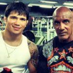 Camões (dir.) ao lado de Erick (esq.), preparador trabalha com atleta na X-Gym. Foto: Reprodução/Instagram