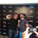 Selfie de Pezão e Arlovski durante promoção do UFC Brasília. Foto: Reprodução/Twitter