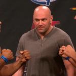 Jacaré (esq.) e Mousasi (dir.) bateram o peso para o UFC FN 50. Foto: Reprodução/YouTube
