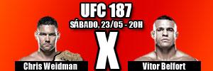 UFC 187. ASSISTIR VITOR BELFORT X CHRIS WEIDMAN INTERNET