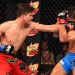 B. Ortega (esq.) derrotou o brasileiro T. Tavares (dir.) no UFC FN 68