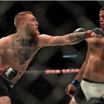 McGregor (esq.) e Diaz (dir.) fizeram dois grandes combates em 2016 Foto: Brandon Magnus/UFC