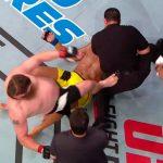 Nelson acerta Big John após luta com Pezão (Foto: Reprodução)