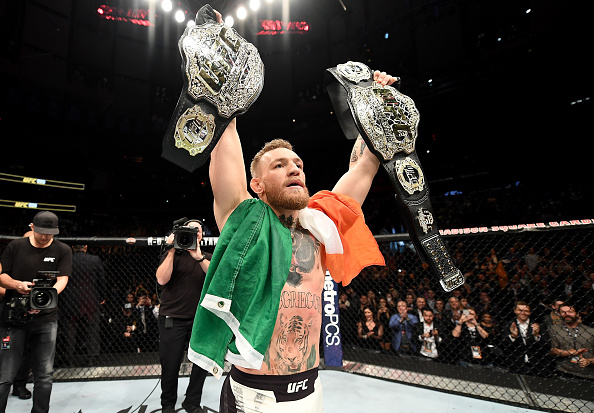 McGregor fez história no UFC 205. (Foto: Getty Images)