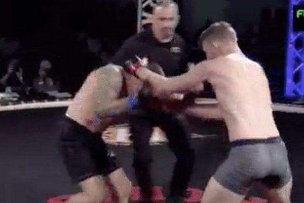 Cash foi nocauteado de forma rápida no MMA. Foto: Reprodução