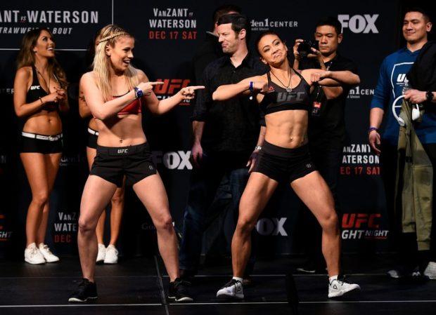 VanZant e Waterson dançam na pesagem do UFC Sacramento