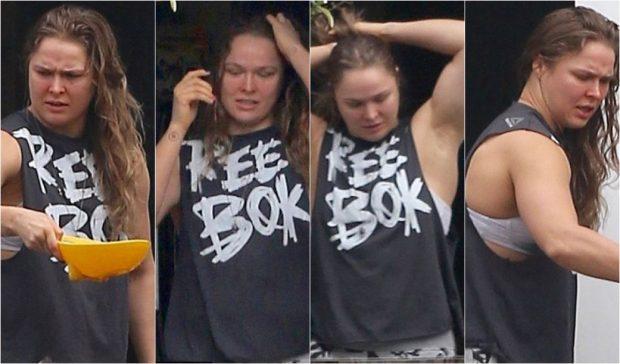 Ronda foi vista pela primeira vez após derrota para Amanda. (Foto: Daily Mail)