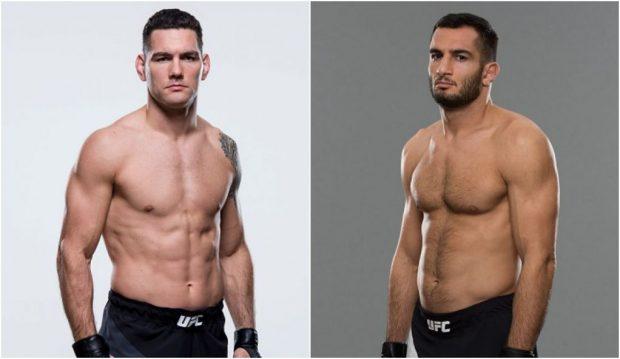 Weidman (esq) e Mousasi (dir) lutam em abril (FOTO: Produção SUPER LUTAS)