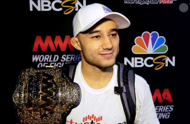 Marlon é o atual campeão peso galo do WSOF (World Series Of Fighting). (Foto: MMAJunkie)