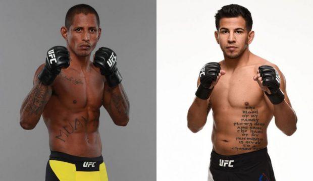 Eduardo (esq) e Lopez (dir) vão se enfrentar no Rio de Janeiro. Foto: UFC/Produção: SUPER LUTAS)