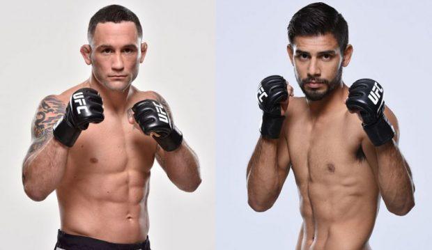 Edgar (esq) e Rodriguez (dir) vão se enfrentar em maio. (Foto: UFC/Produção: SUPER LUTAS)