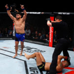Gastelum nocauteou Belfort na luta principal do UFC Fortaleza. (Foto: Getty Images)