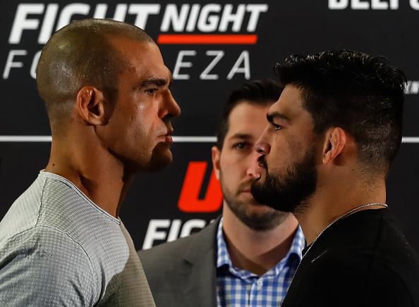 V. Belfort (esq) é azarão contra K. Gastelum (dir) (Photo by Buda Mendes/UFC)