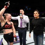 V. Shevchenko (esq) e A. Nunes (dir) se desentenderam (FOTO: Josh Hedges/UFC)