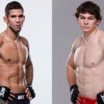 Léo (esq) enfrenta  Aubin-Mercier (dir) (Fotos: UFC/Montagem: Super Lutas)