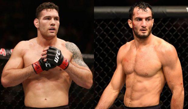 Weidman (esq) e Mousasi (dir) estão de olho no cinturão dos médios (Fotos: UFC/Montagem: Super Lutas)