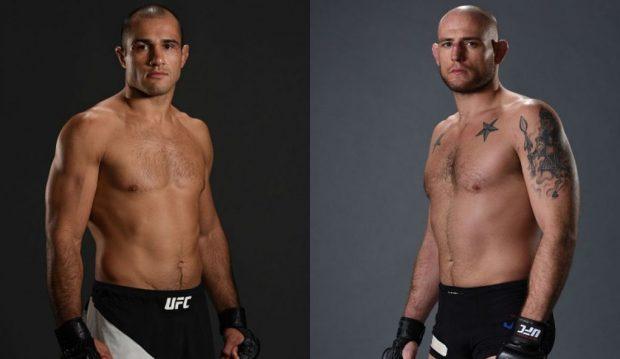 Fortuna (esq) e Johnson (dir) se enfrentam em julho.  (Fotos: UFC/Montagem: Super Lutas)
