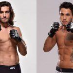 Theodorou (esq) e Tavares (dir) se enfrentam em julho. (Fotos: UFC/Montagem: Super Lutas)