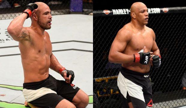 Thales (esq) e Pezão (dir) vivem situações opostas (Fotos: UFC/Montagem: Super Lutas)