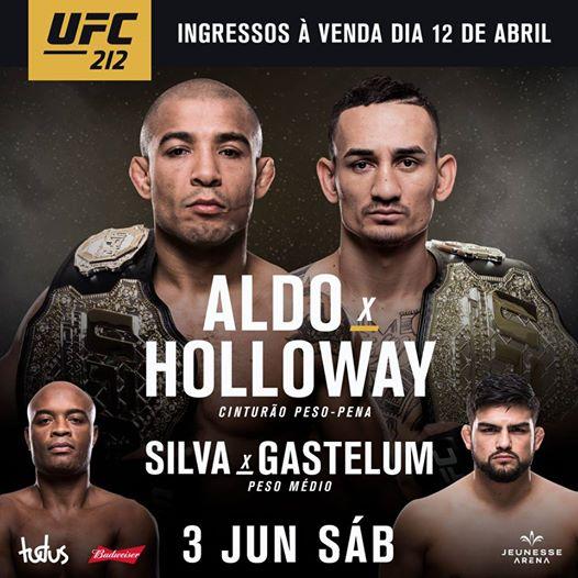 Pôster oficial do UFC 212 (Foto: Divulgação/UFC
