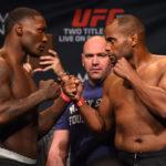 Cormier (esq) e Johnson (dir) vão fazer revanche pelo cinturão (Foto:Josh Hedges/UFC)