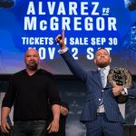 D. White (esq) falou bem de C. McGregor (dir) (Foto: Brandon Magnus/UFC)