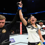 K. Vieira comemora vitória no UFC Kansas (Foto: Josh Hedges/UFC)
