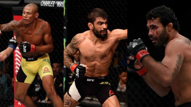 Trio brasileiro atuará dia 22 de julho, em Long Island (Foto: Facebook/UFC - Montagem: SL)