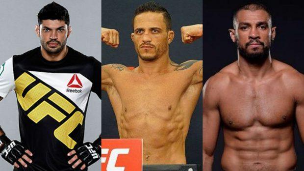 Viscardi, Reginaldo e Jucão foram demitidos do UFC (Foto: Facebook - Montagem: SL)