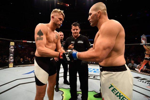 Gustafsson e Teixeira antes do UFC Suécia (Foto: Reprodução/Facebook UFC