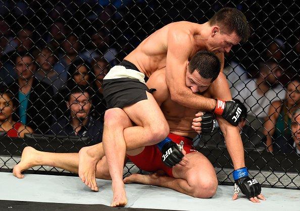 D. Maia (esq) venceu J. Masvidal (dir) (Foto: Reprodução/Twitter UFC Brasil)