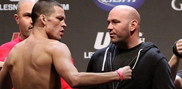 Dana (dir) contestou decisões de Diaz (esq) (Foto: Reprodução/Youtube)