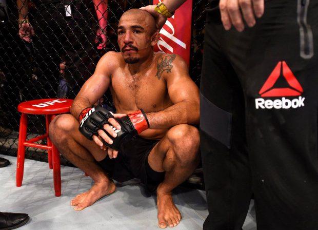 Aldo foi nocauteado por Holloway no UFC 212 (Foto: Reprodução/Facebook UFC)