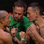 Aldo (esq) pega Holloway (dir) neste sábado (3) (Foto: Reprodução/Youtube UFC)