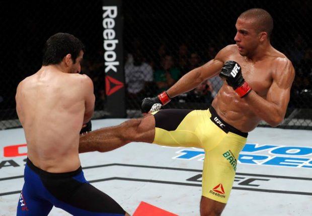 E. Barboza (esq) quer Aldo (Foto: Reprodução/Facebook/UFC)