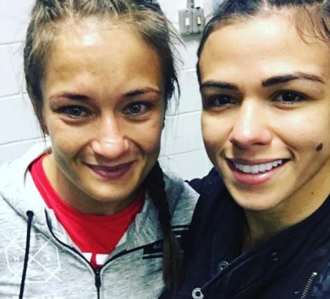 C. Gadelha (dir) elogiou Karolina (Foto: Reprodução Instagram claudiagadelhaufc)