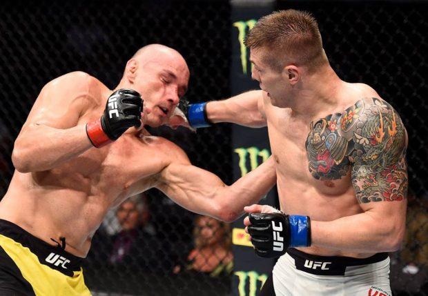 V, Miranda (esq): suspenso por seis meses (Foto: Reprodução/Facebook/UFC)