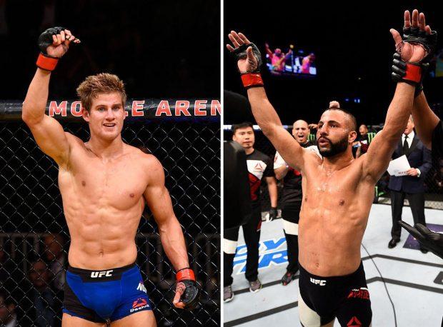S. Northcutt (esq) pega J. Makdessi (dir) Foto: Reprodução/Twitter/UFC_CA