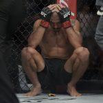 Aldo foi flagrado chorando após derrota no UFC 212 (Foto: Inovafoto)