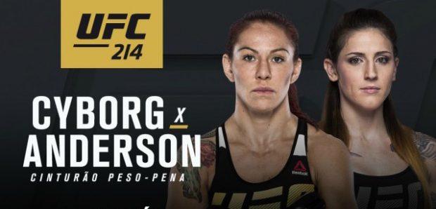 Cyborg (esq) e Anderson (dir) se enfrentam em julho (Foto: Divulgação/ UFC)