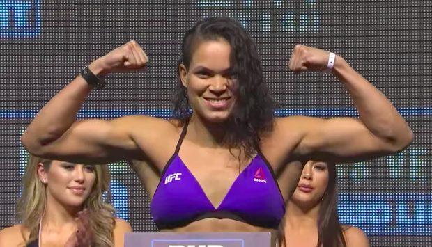 Amanda é a unica campeã brasileira do UFC (Foto: Reprodução/Youtube UFC)